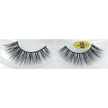wholesale Real Mink  fur 3D Strip Lashes YY-3D40