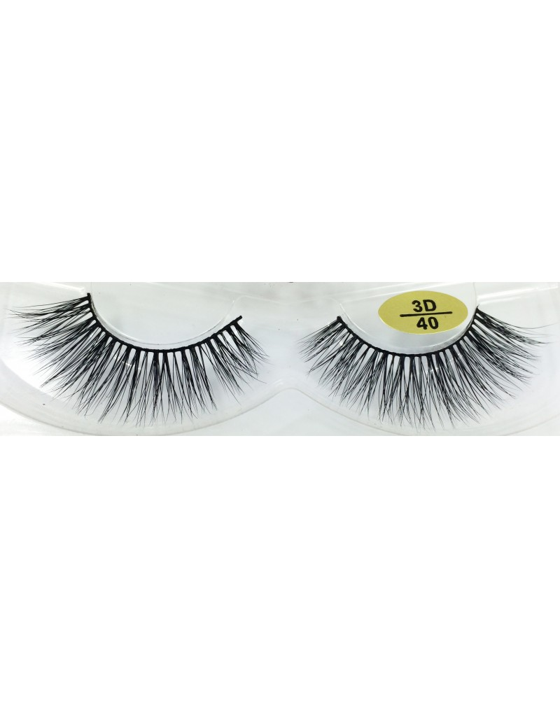 Fast Selling Real Mink  fur 3D Strip Lashes YY-3D40