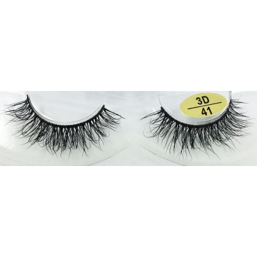 Wholesale Handmade Real Mink  3D Strip Lashes  vendor YY-3D41