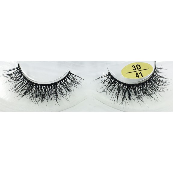 Cheap Price Real Mink  fur 3D Strip Lashes YY-3D41