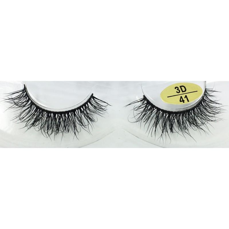 Free Shipping 3 Pairs Natural Looking 3D Mink Fur Fake Eyelashes 3D40-3D42
