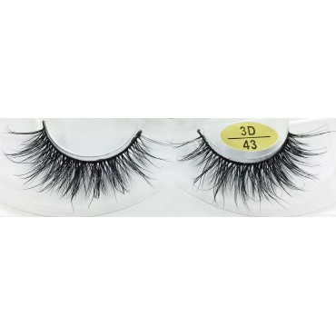 Handmade Real Mink  fur 3D Strip Lashes YY-3D43