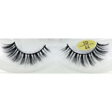 Real Mink Fur 3D False Strip Lashes YY-3D44