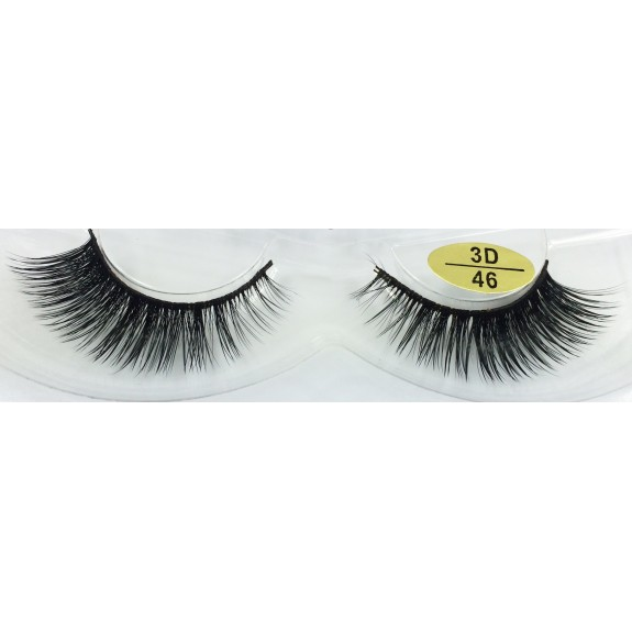 Free Shipping 3 Pairs Natural Looking 3D Mink Fur Fake Eyelashes 3D46-3D48