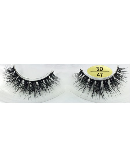 Fast Seller Handmade Real Mink 3D False Strip Eyelashes YY-3D47