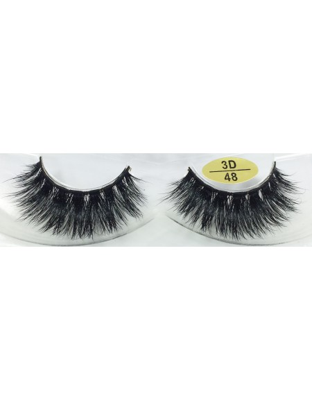Best Seller 3D Mink False Strip Lashes YY-3D48