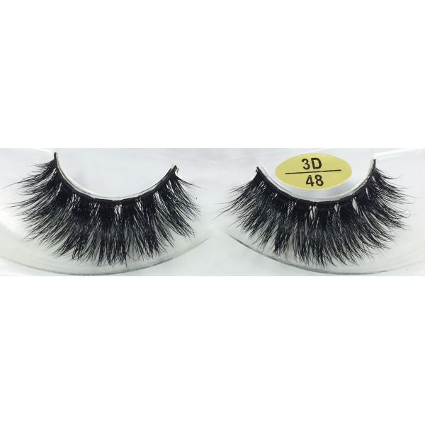 Lash manufacturer wholesale 3D Mink False Strip Lashes YY-3D48