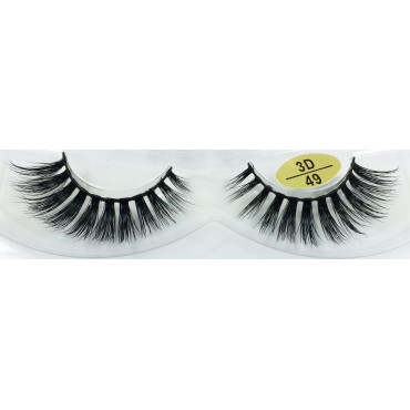 Factory wholesale 3D Mink Fur Strip Lashes YY-3D49