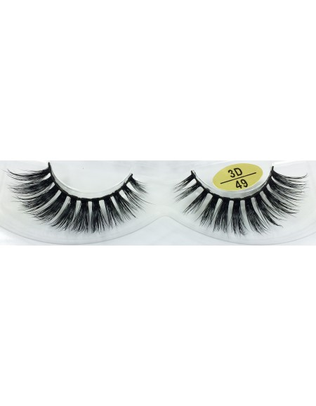 Best Selling 3D Mink Fur Strip Lashes YY-3D49