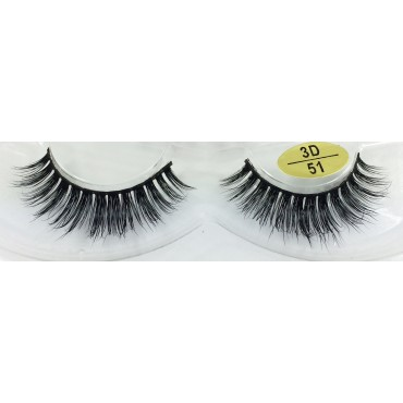 Wholesale 3D Real Mink Fur False Lashes YY-3D51