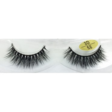 Wholesale 3D Real Mink  Fur False Strip Lashes YY-3D52