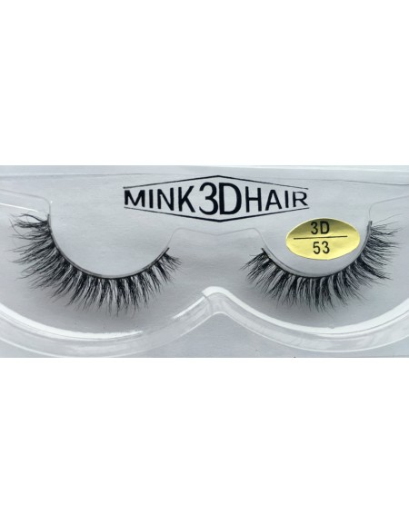 Best Selling 3D Mink Fur False Strip Lashes YY-3D53