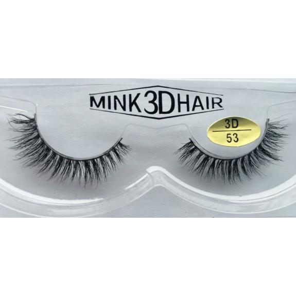 Best Selling 3D Mink Fur False Strip Lashes YY-3D53