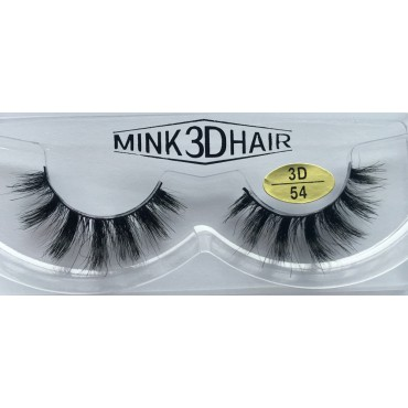 Wholesale 3D Real Mink Fur Fake Lashes YY-3D54