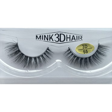 Wholesale 3D Mink False Strip Eyelashes YY-3D55
