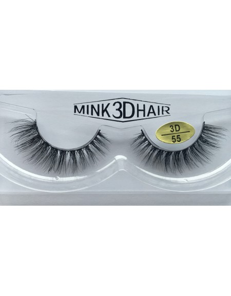 Best Selling 3D Mink False Strip Eyelashes YY-3D55