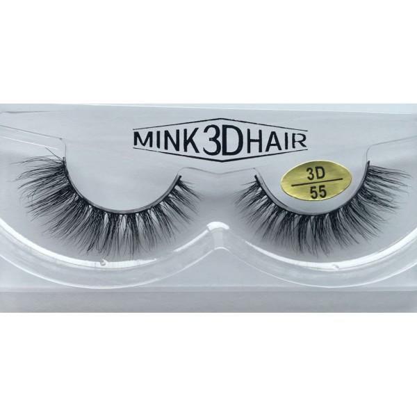 Best Selling 3D Mink False Strip Eyelashes YY-3D55