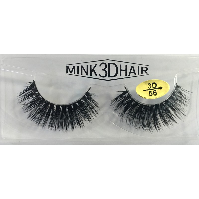 100% Handmade 3D Mink False Strip Eyelashes YY-3D56