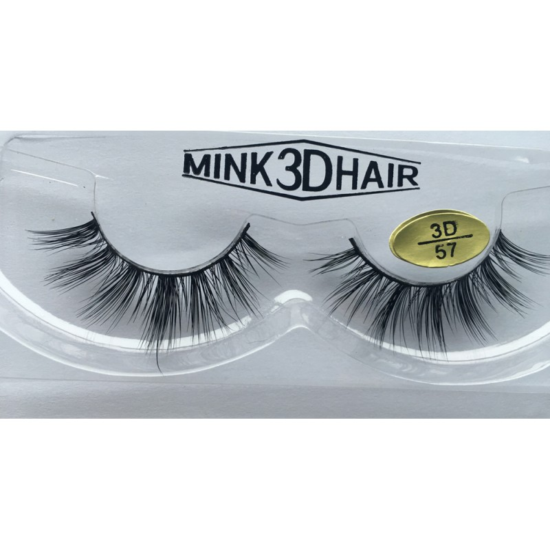 Free Shipping 3 Pairs Natural Looking 3D Mink Fur Fake Eyelashes 3D55-3D57