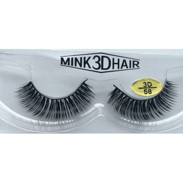 Wholesale 100% Real Mink Fur 3D False Eyelashes YY-3D58