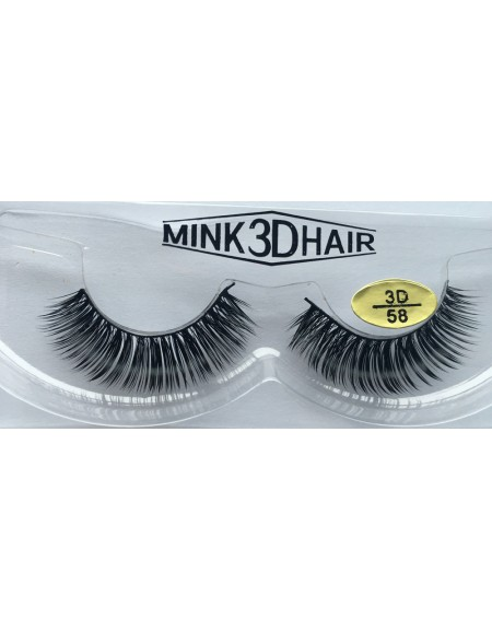 100% Real Mink Fur 3D False Eyelashes YY-3D58