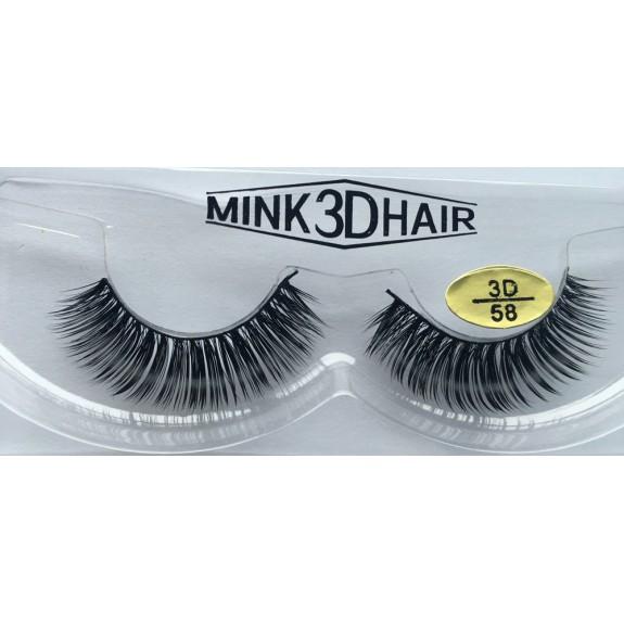 Free Shipping 3 Pairs Natural Looking 3D Mink Fur Fake Eyelashes 3D58-3D60