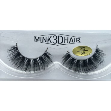 100% Real Mink  3D Fake Strip Eyelashes YY-3D59