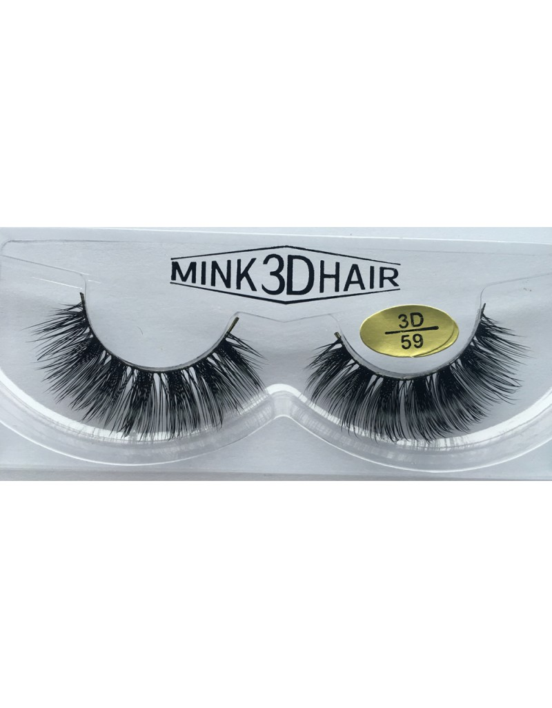 100% Real Mink  3D Fake Strip Eyelashes YY-3D59