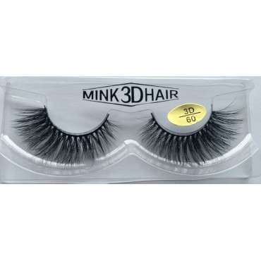 Wholesale100% Real Mink 3D Fake Eyelashes YY-3D60