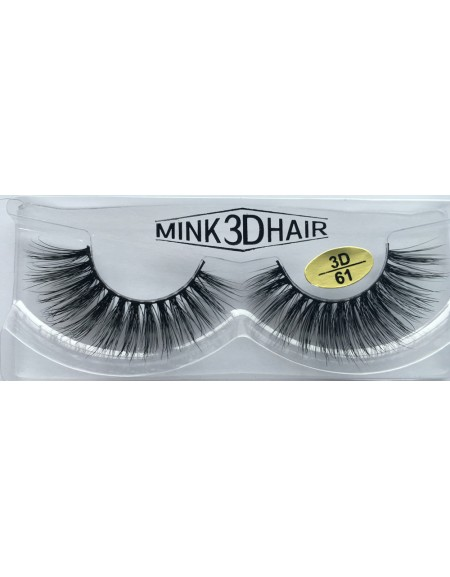 100% Real Mink 3D Fake Strip Eyelashes YY-3D61