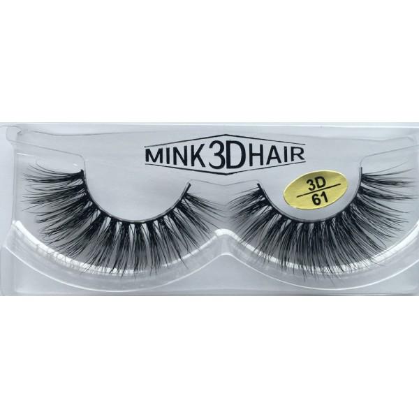 100% Real Mink 3D Fake Strip Eyelashes YY-3D61