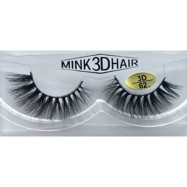 Wholesale Price Real Mink  Fur 3D Fake Eyelashes YY-3D62