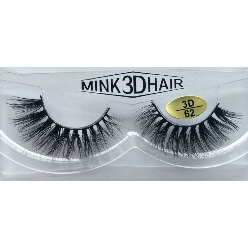 Wholesale Price Real Mink  Fur 3D Fake Eyelashes YY-3D62