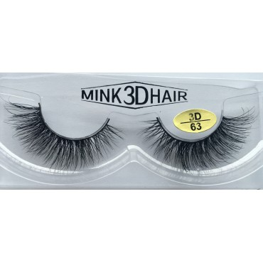Wholesale 100% Real Mink  Fur 3D Strip Eyelashes YY-3D63