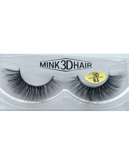100% Real Mink  Fur 3D Strip Eyelashes YY-3D63