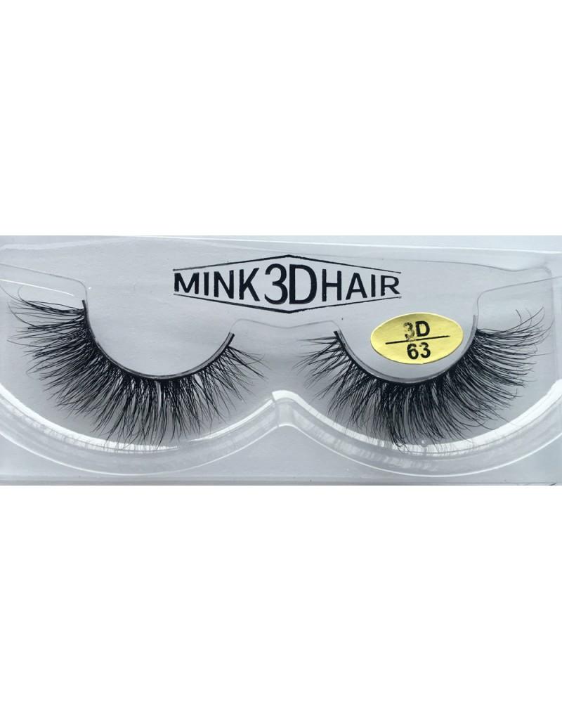 100% Real Mink  Fur 3D Strip Eyelashes YY-3D63