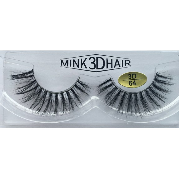100% Handmade 3D Mink  Strip Eyelashes YY-3D64