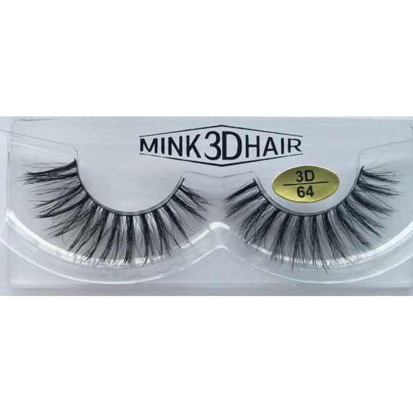 100% Handmade 3D Mink  Strip Eyelashes YY-3D64