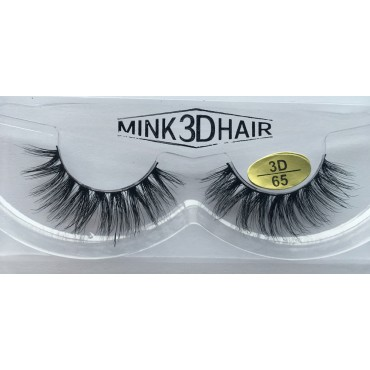 100% Real Mink  Fur 3D Strip Lashes YY-3D65