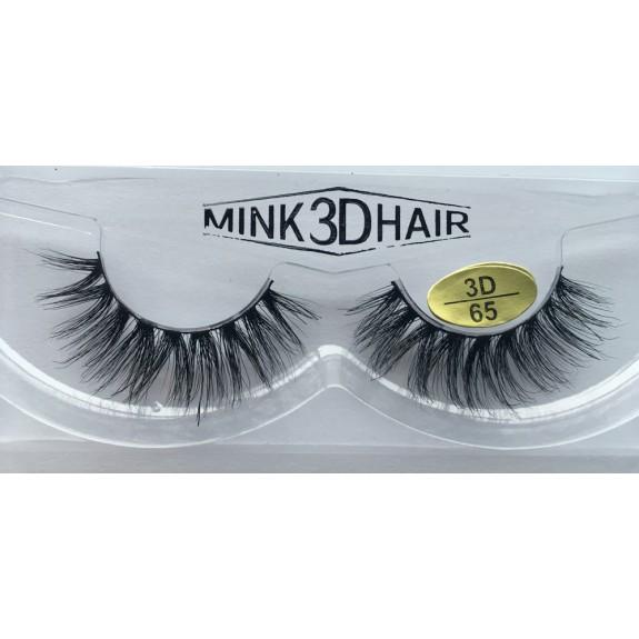 100% Real Mink  Fur 3D Strip Lashes YY-3D65
