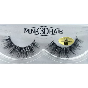 Wholesale Real Mink  3D Strip Eyelashes 100% real mink fur YY-3D66