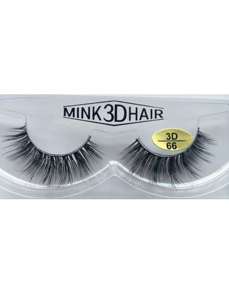 Real Mink  3D Strip Eyelashes YY-3D66