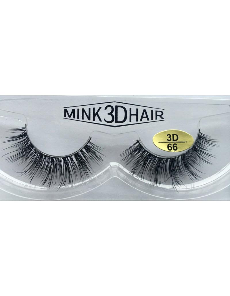 Real Mink  3D Strip Eyelashes YY-3D66