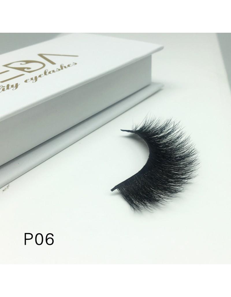 3D Mink platinum grade P06 100% Handmade Strip Lashes