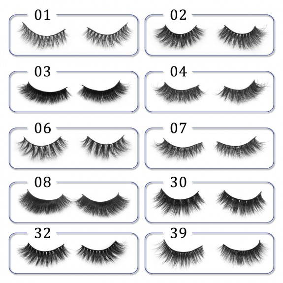 3D Mink platinum grade P09 100% Handmade Strip Lashes