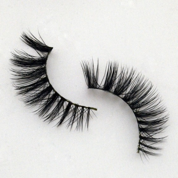 100% Real Mink Fur Lashes 3D Mink  Strip Lashes G024