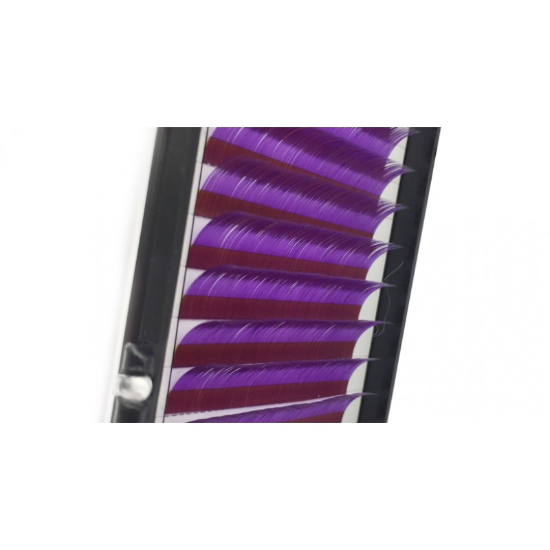 Purple 0.07/0.10/0.15mm Thickness 8-15mm Single Length J/B/C/D Curl Colored Lash Extension