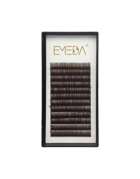 Black Brown 0.07/0.10/0.15mm Thickness 8-15mm Single Length J/B/C/D Curl Colored Lash Extension
