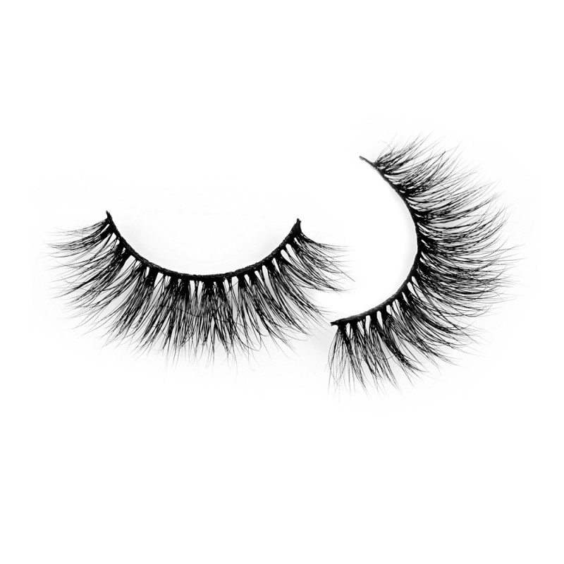 Best Seller Real Mink  Fur 3D Mink Strip Lashes Free Shipping P106