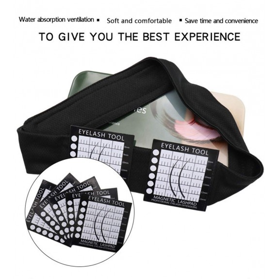 Professionally Supply Eyelash Extensions Strip Tray Holder Pallet Tools,An Adjustable Magnetic Lash Pad Headband with 5 Magnetic Lash Pads, Made Application Easier